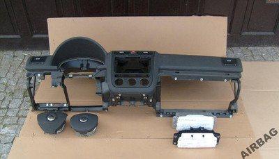 vw golf 5 armaturenbrett mit airbag airbagsatz 4 speichen. Black Bedroom Furniture Sets. Home Design Ideas